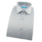 【南紡購物中心】【襯衫工房】長袖襯衫-淺灰色細條紋