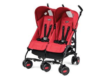 Peg-Perego Pliko Mini Twin 雙人推車-熱情紅