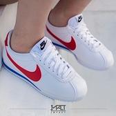IMPACT Nike Wmns Classic Cortez Leather 白紅藍 阿甘 初代款 黑標 皮革 休閒 女鞋 經典 百搭 807471-103