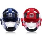 跆拳道護臉透明防護面罩空手道護臉護頭頭盔面具結實可拆卸