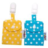 Puku 藍色企鵝 平安符保護袋 (2入)-藍色/黃色【佳兒園婦幼館】