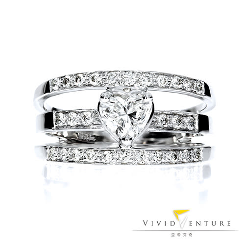 GIA鑽石戒指 50分 GSI1 14K金台 亞帝芬奇 心型美鑽