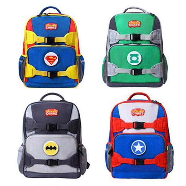 [現貨] 英雄聯盟LED發光護體後背包 兒童書包 背包 超人閃光能源蝙蝠俠