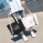 托特包-高級感帆布包女2020新款洋氣大容量托特布袋手提包百搭單肩大包包