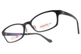 Alphameer 光學眼鏡 AM3503 C02 (霧黑) 簡約LOGO款記憶塑鋼 方框眼鏡框 #金橘眼鏡