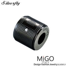 《 SilverFly銀火蟲銀飾 》【MiGO】DREAM項鍊-大(黑)