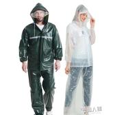 雨衣雨褲套裝透明成人男女騎行分體雨衣電瓶電動摩托車防水    9號潮人館