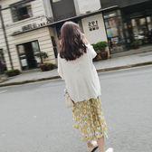 【全館】82折薄款慵懶風防曬衫針織外套女中長款冰絲防曬開衫外搭夏外披空調衫中秋佳節