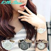 韓版流行手錶 簡約 立體鏤空 皮帶對錶 SINOBI 簡約經典款 立體鏤空鏡面 男女錶對錶 【KIMI store】