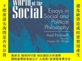 二手書博民逛書店The罕見Fragmented World Of The SocialY256260 Honneth, Axe