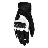 [東門城] ASTONE_LC-02 黑白 長款 碳纖維 小羊皮質 防摔手套 通風設計 開放式護具 滑塊設計