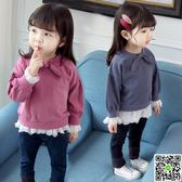 女童新款秋裝嬰兒長袖T恤女寶寶打底衫小童秋季上衣1-2-3-4歲 歡樂聖誕節
