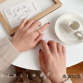 冷淡風時尚個性套裝戒指女復古小眾設計簡約食指戒指環【毒家貨源】