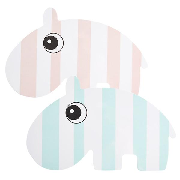 丹麥 DONE BY DEER 造型點心盤 粉色河馬/藍色河馬