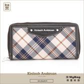 Kinloch Anderson 金安德森 皮夾 英式學院 黑色 經典格紋長夾 牛皮女夾 KA151201  MyBag得意時袋