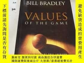 二手書博民逛書店英文原版:BILL罕見BRADLEY VALUES OF THE