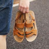 男士涼鞋2018新款夏季沙灘鞋潮防滑鞋子涼鞋男厚底休閒兩用涼拖鞋  莉卡嚴選