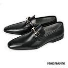 【MAGNANNI】金屬扣飾樂福紳士皮鞋...