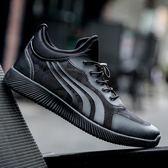 男士運動風休閒鞋男跑步鞋透氣超輕復古跑鞋 ☸mousika