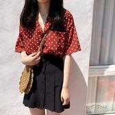 黑色顯瘦百搭一排扣百褶裙短裙韓國夏季新款