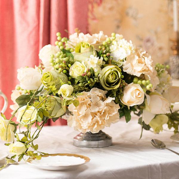 模擬花假花 套裝 花藝 客廳餐桌 裝飾花 花瓶花束 -bri02024