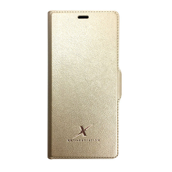 手機 皮套 - Samsung Note8 - 防電磁波 - 360旋轉 - 【Moxie 摩新科技】香檳金