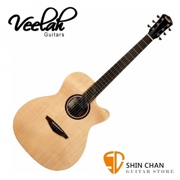Veelah吉他 V1-OMC om桶身/面單板/切角-附贈Veelah木吉他袋/V1專用(全配件)/台灣公司貨