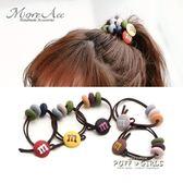 M豆頭繩韓國發圈頭飾小清新扎頭發繩橡皮筋簡約發飾品