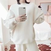 毛衣-兔毛純色蝙蝠袖簡約加厚女針織衫4色73uc32【巴黎精品】