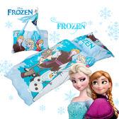 冰雪奇緣 白雪森林 藍 兒童睡袋 鋪棉冬夏兩用 台灣製 超取限一顆 伊尚厚生活美學