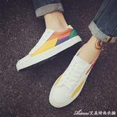 夏季新款帆布鞋韓版潮流休閒學生百搭透氣平底板鞋男士潮鞋子艾美時尚衣櫥