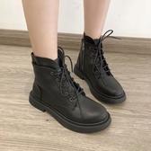 馬丁靴 新款百搭韓版帥氣秋季ins潮英倫風黑色短靴女 源治良品
