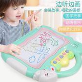 兒童繪畫板 磁性彩色寫字板小孩涂鴉小黑板幼兒繪畫1-3歲2早教玩具 俏女孩
