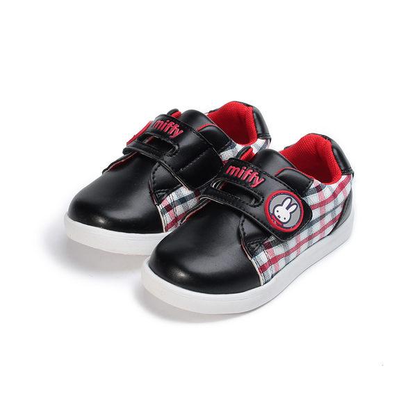 MIFFY 英倫格紋休閒鞋 黑 中小童