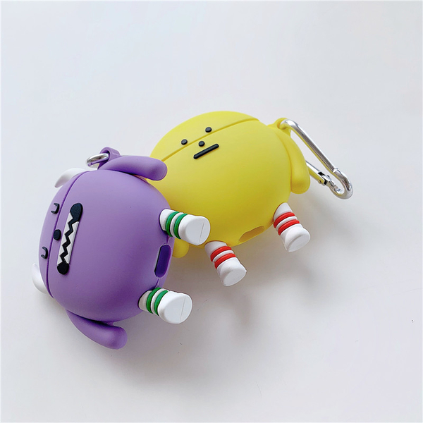 Airpods 1/2代 專用 台灣發貨 [ 黏黏怪物研究所 ] 藍芽耳機保護套 蘋果無線耳機保護