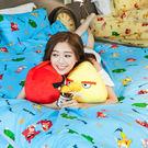 床包被套組 / 雙人【憤怒鳥-兩色可選】含兩件枕套,可愛卡通Angry Birds,戀家小舖台灣製