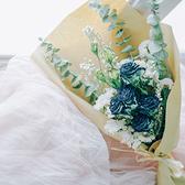 尤加利玫瑰薔薇干花花束森系簡約掛件天然攝影拍照道具生日禮物 - 風尚3C