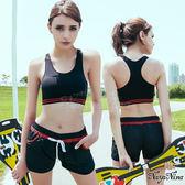 運動內衣 無鋼圈運動背心 無縫工字背 美背內衣 S-XL(黑)  《SV5962》HappyLife