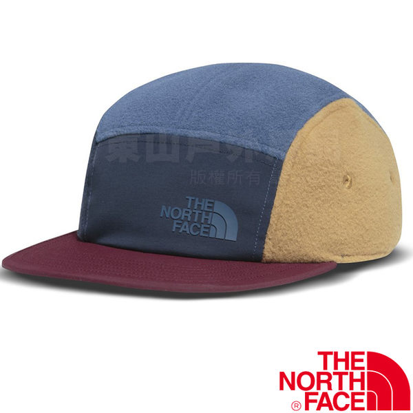 The North Face TNF 2T6C-HDC蔭藍 撞色保暖刷毛棒球帽 板帽遮陽帽/旅遊帽/卡車司機帽/鴨舌帽