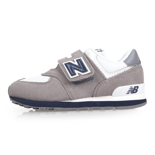 NEW BALANCE 574系列 男女童復古慢跑鞋-WIDE (免運 NB 魔鬼氈≡體院≡