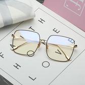 防輻射眼鏡男網紅同款眼鏡框女金絲大框復古防藍光眼睛 雙12鉅惠 聖誕交換禮物