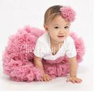 【美國Chic Baby Rose】手工雙層雪紡澎裙 - 灰玫瑰 美國手工製造
