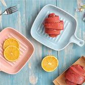 陶瓷帶手柄盤子創意烤盤焗飯盤烘焙盤子西餐盤牛排盤微波爐烤箱 igo