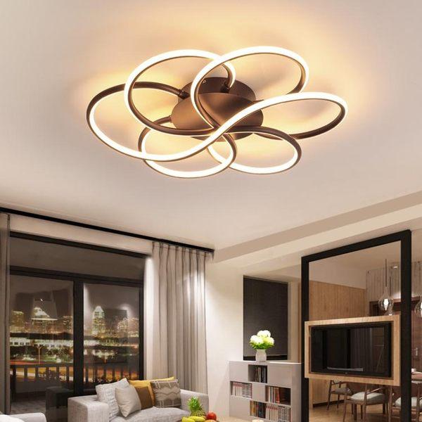 北歐臥室吸頂燈現代簡約led創意溫馨書房個性藝術燈圓形客廳燈具 英雄聯盟