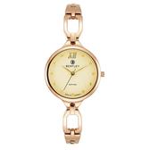 新品上市 ◢BENTLEY 賓利◣ 優雅三針石英女錶  日本機芯 德國製造BL1857-10LRKI玫瑰金X米黃