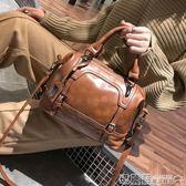 機車包 包包女潮波士頓女士手提包大包復古休閒大容量單肩斜挎包  瑪麗蘇