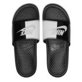 Nike Benassi JDI 男 黑 白 拖鞋 運動拖鞋 休閒 籃球員 運動 舒適 海綿襯墊 343880015