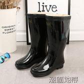 加厚橡膠底雨鞋勞保黑色中筒男士雨靴全棉襯布橡膠雨靴水鞋男