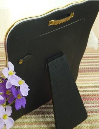 [協貿國際]  歐式超人氣小天使陶瓷鑲金邊相框(單個價)