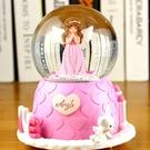 聖誕節水晶球旋轉音樂盒音樂盒雪花生日禮物女生閨蜜女孩兒童創意 錢夫人小鋪